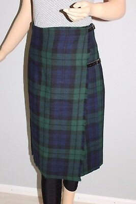 True Vintage Vtg Midi Gonna Scozzesi Rock Fasciatoio Gonna A Quadri Scottish Kilt Skirt-mostra Il Titolo Originale Vendendo Bene In Tutto Il Mondo