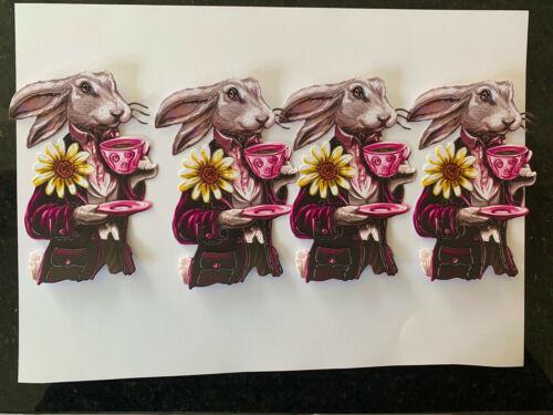 Tattered Lace x4 liebre dado corta tarjeta Topper Cumpleaños Scrapbooking