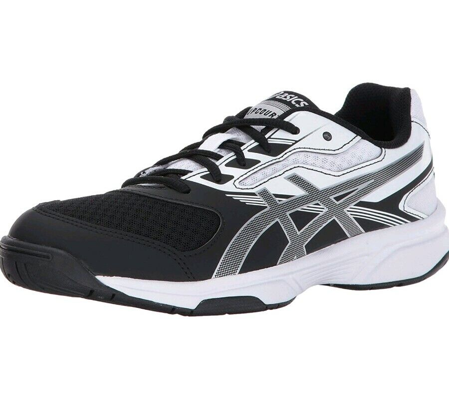 New in Box femmes ASICS B755Y 9093 UPCOURT 2 Volley-ball noir blanc Chaussure  80 Taille 12