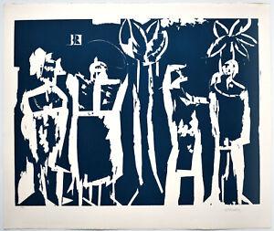 HAP-Grieshaber-Bayrischer-Schulfunk-1967-Signierter-O-Farbholzschnitt