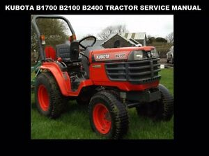 image is loading kubota-b1700-b2100-b2400-tractor-service-manual-460pg-