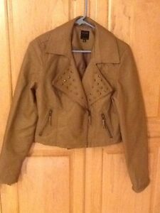 9db56a30b Details about Therapy By Lane Crawford Tan Faux Leather Jacket