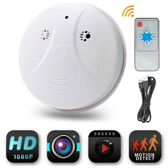 1080P Rauchmelder Kamera WiFi Rauchmelder-Detektor 32GB DV DVR Nanny Motion Cam