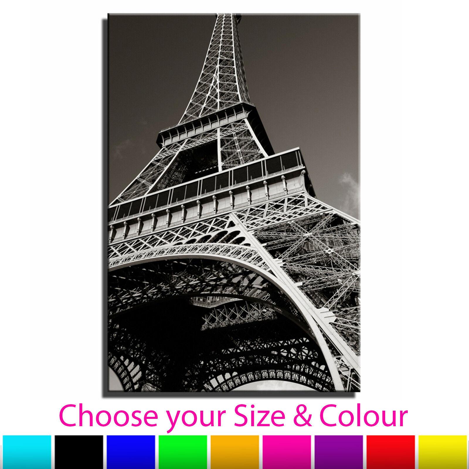 Paris Eiffel Tower Landscape Single Canvas Wall Art Picture Print 2