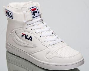2d8ef0711911 Fila FX100 Mid Top Men s Lifestyle Shoes White Blue 2018 Sneakers ...