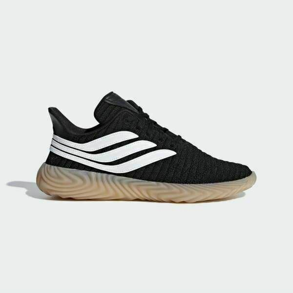 Adidas Originals SCARPE SOBAKOV scarpe da ginnastica uomo nero bianco fondo gomma naturale