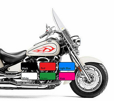 Flame 116 Fuel Tank Sticker X 2 Fire Vinyl Motorcycle Motor Decal Motorbike Bike