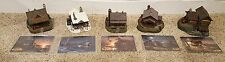 """Terry Redlin Homestead Collection Lot of 5 """"Golden Retreat"""" Evening with Friends"""