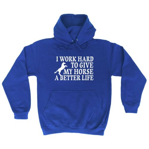 123t I Work Hard To Give My Horse A Better Life Funny Joke Animal Job HOODIE
