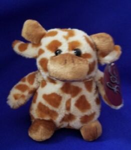 B J Toy Co Giraffe Plush Stuffed Animal 7 Soft Whimsical Cute Toy