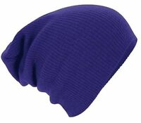 Mens Womens Woolly Winter Knitted Oversized Slouch Beanie Hat Cap - Brand New
