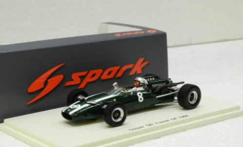 hermoso Cooper T81    8 7th francés GP 1966 Chris Amon Spark MODEL 1 43  S5290  Garantía 100% de ajuste