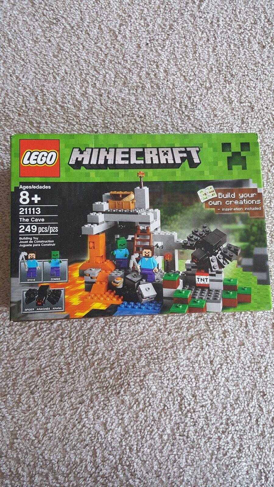 moda classica Nuovo LEGO LEGO LEGO Minecraft The Cave 21113 Playset 2 Minicifras Steve Zombie Spider giocattolo  risparmiare fino all'80%