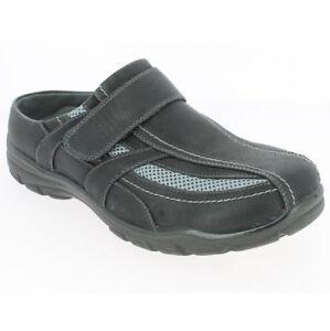 Herren-Clogs-Sabots-Slipper-Sneaker-Schlappen-Pantoletten-Schuhe-Pu-Mesh