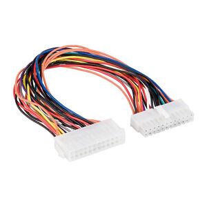 Stromkabel-24Pin-Verlaengerung-PC-ATX-24-polig-Stecker-auf-24-polig-Buchse-0-30m