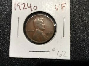 1924 Lincoln Wheat Cent Very Fine Penny VF