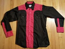 Vintage ROCKMOUNT RANCH WEAR shirt western rockabilly cowboy button down dress M