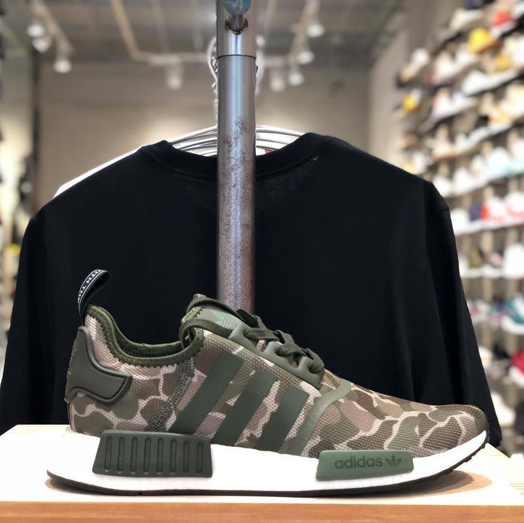Adidas NMD R1 Original Runner Duck Camo Sesame Cargo New Men Shoes 4-13 (D96617