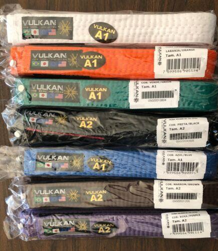 Vulkan BJJ Belt NIP A4 Assorted Colors /& Sizes A1 Brazilian Jiu Jitsu