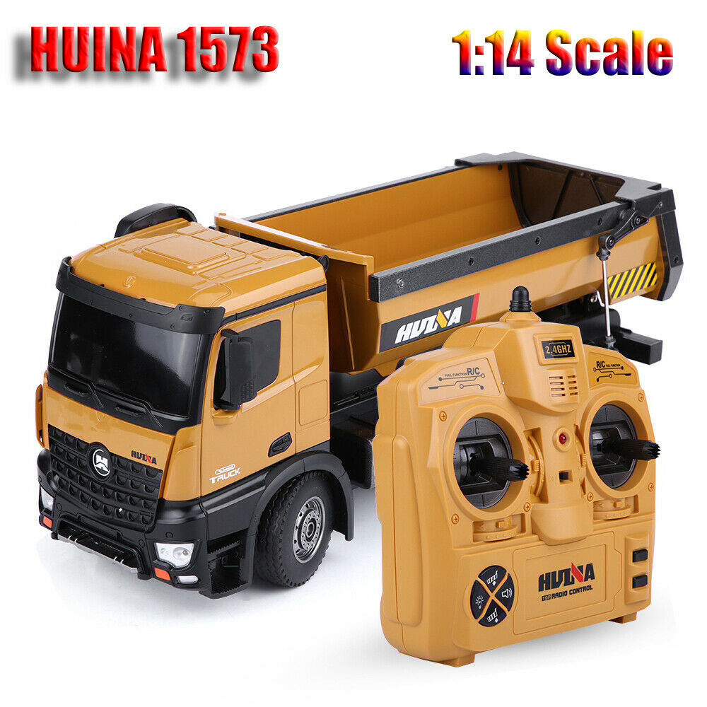 HUINA 1573 1 14 Scale 2.4GHz RC Dumping Truck Engineering Vehicle Model Juguete RTR