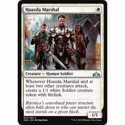 NM Card x 4 Playset MTG Guilds of Ravnica Haazda Marshal