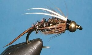 Wet Fly Trout 1 Dozen BH Hot Wire Prince Nymph Gold