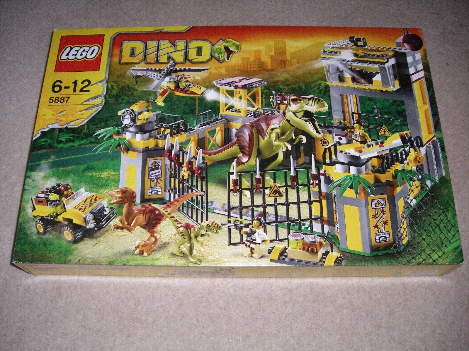 New Lego Dino Defense HQ 5887, Similar Jurassic World, Retired, Sealed
