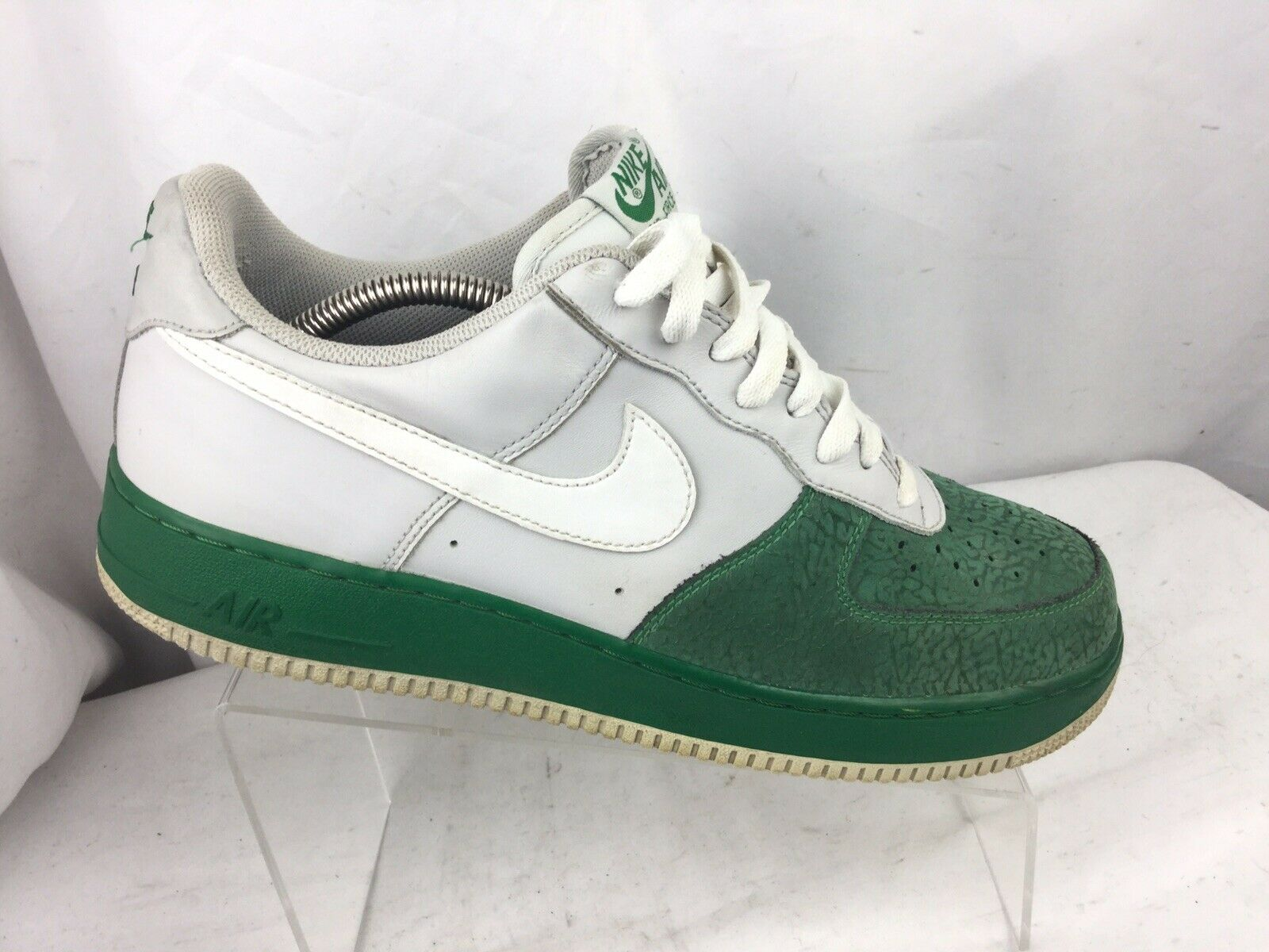 Nike Air Force One 1 Low 317295 013 Neutral GreyWhitePine Green, Size 11.5