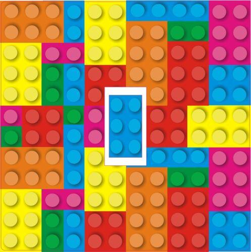 Lego briques interrupteur de lumière autocollant vinyle//couverture de peau hd full colour print