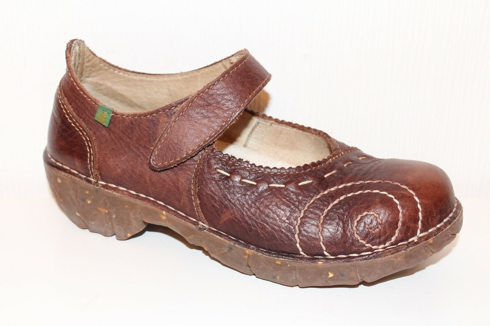 El Naturalista chaussures femmes Cuir Veritable 37 Cognac Bride Ballerine superposé uk4