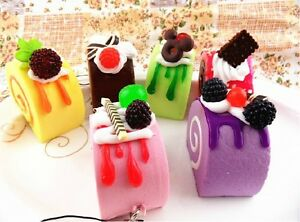 Cute Squishy Phone Straps Soft Fruit/Sprinkles/Chocolate Cake Squishies Charms eBay