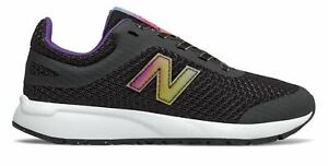 New-Balance-Kid-039-s-455-Big-Kids-Female-Shoes-Black-with-White