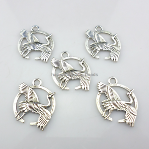 10//30pcs Tibetan Silver Jewelry Making Birds Charms Pendants 21x27.5mm
