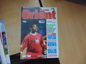 FA Cup 2000/1 Leyton Orient v Northwich Victoria