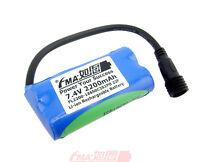 Li-ion Battery 2s 7.4v 2200mah By Samsung 22f W/pcm For Bike Light Headlight Us