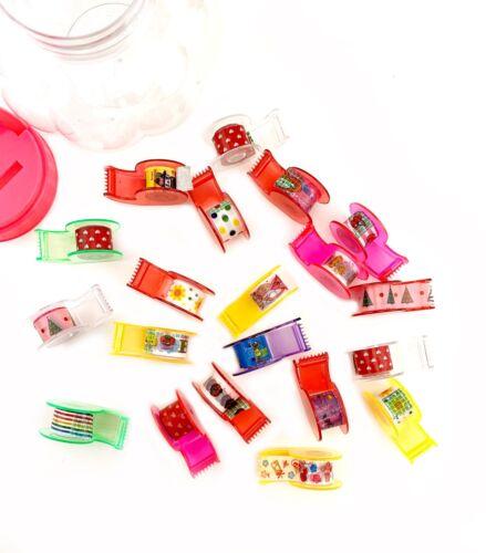 Mini Tape Dispensers Scrapbooking 20pcs Washi Tape paper Crafts Sticker Adhesive