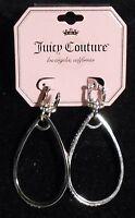 Juicy Couture Goldtone Crystal & Hoop Earrings