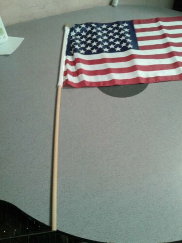 """50 Star Black Painted Wooden Stick Flag 16/""""x24/"""" 16x24 inch USA American U.S.A"""