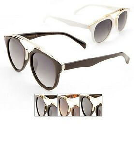 Unisex Retro Pantos Frame Sunglasses Keyhole Bridge Metal ...