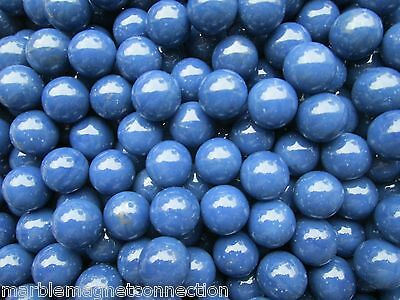 "MARBLE BULK LOT 2 POUNDS OF 5/8"" SOLID BLUE MARBLE KING MARBLES FREE SHIPPING"