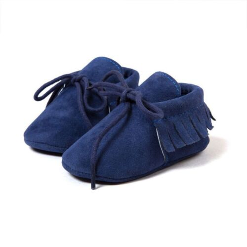Baby Girls Boys Moccasins Walker Red Toddler Kids Soft Sole First Walking Shoes