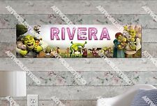 Personalized/Customized Shrek Movie Name Poster Wall Art Decoration Banner