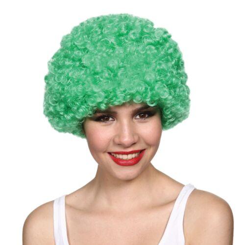 Funky Green Afro Wig Mens Ladies Clowns Fancy Dress Accessory