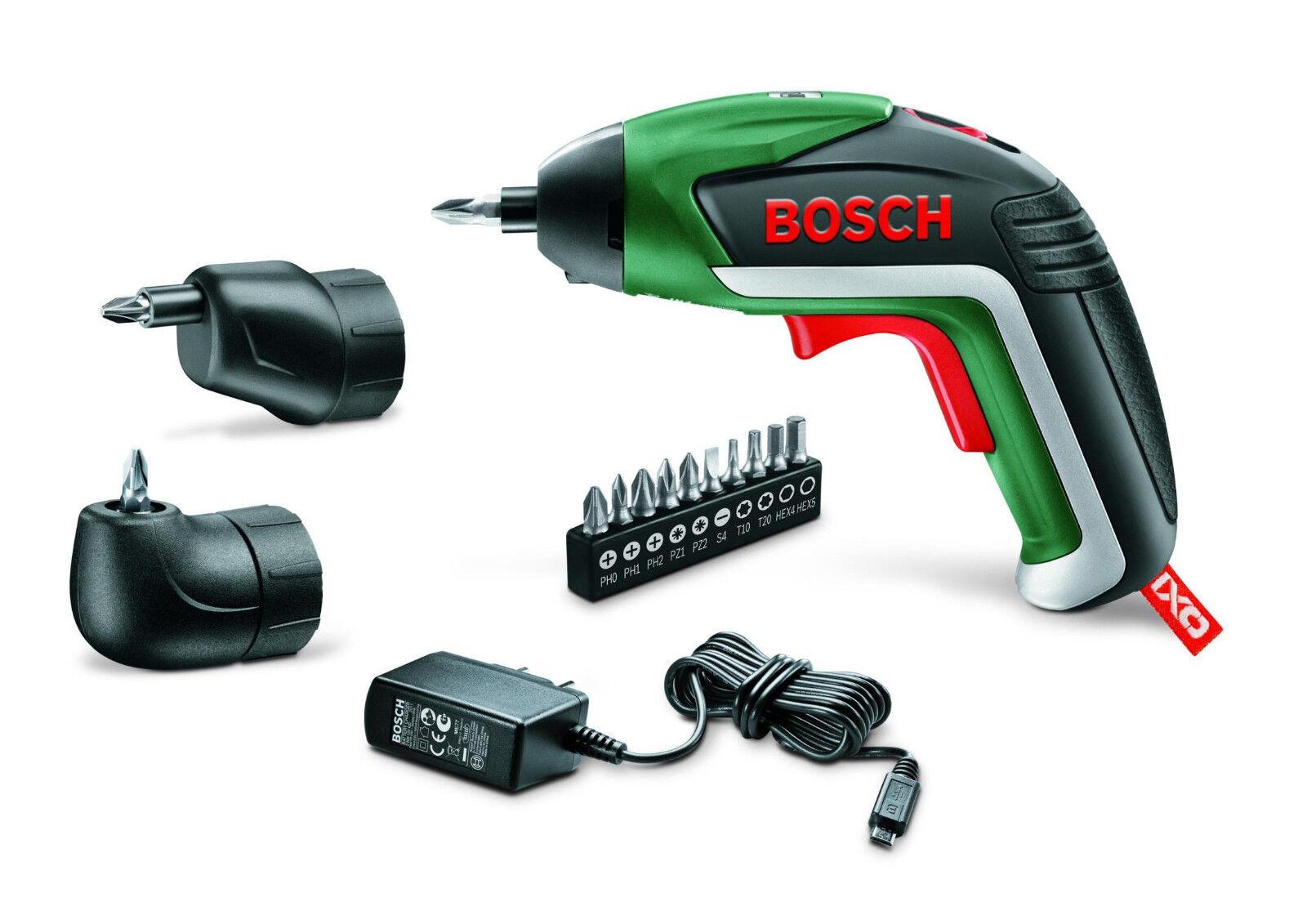 Bosch Akku-Schrauber IXO V Set 3,6 V inkl. Ladegerät + 10-teiliges Bit-Set