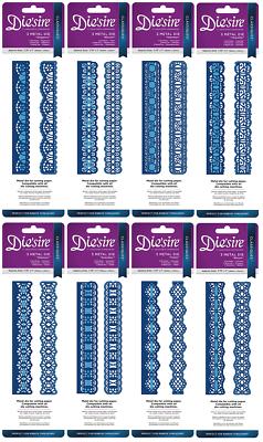 Die/'sire Classiques Craft Metal Ribbon Threading Lace Die Stencil Elegance