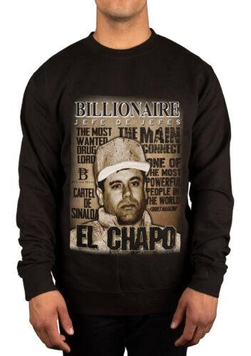 Billionaire EL Chapo MOST WANTED Graphic Felpa Drug Lord JAOQUIN MAGLIONE NUOVO