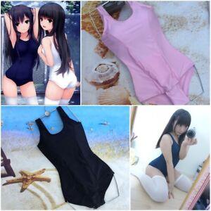 d3157fcae1e New Swimsuit Japanese School Mizugi Sukumizu Girls One-piece Cosplay ...