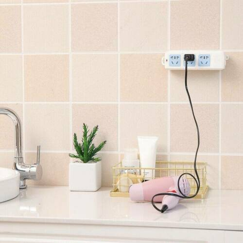 Self Adhesive Power Strip Holder Fixator Wall-Mounted Socket Cable Fixer Rack