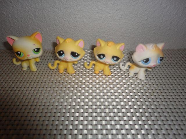 Littlest Pet Shop Cat Raised Paw Kitten 1035 896 73 52 KITTY CATS x 4 LPS