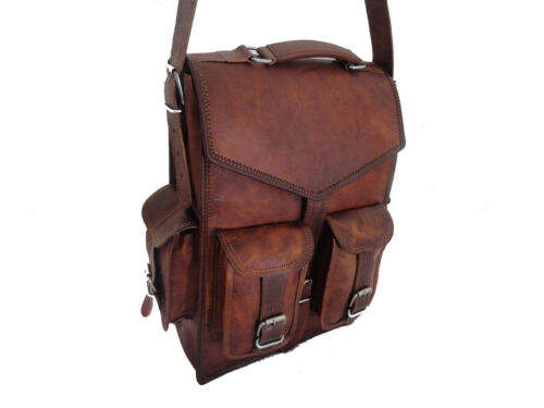 Handmade Leather Shoulder Messenger Bacpack Bag for Laptop Briefcase Satchel Men